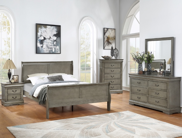 Louie Philip Bedroom Set Grey