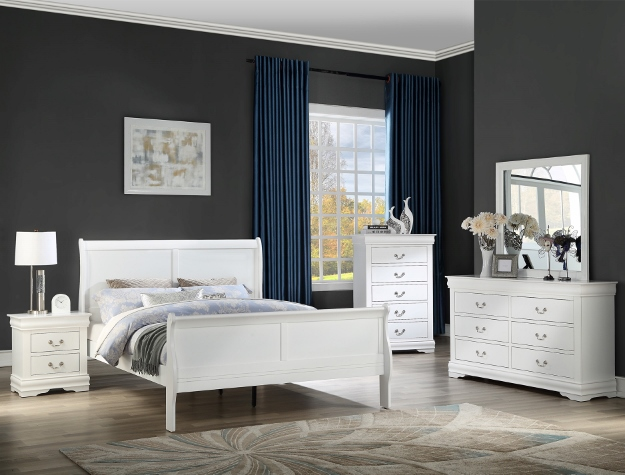 Louie Philip Bedroom Set White