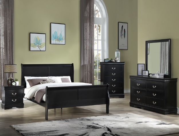 Louie Philip Bedroom Set Black