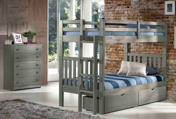 Cambridge Gray Bunk Bed