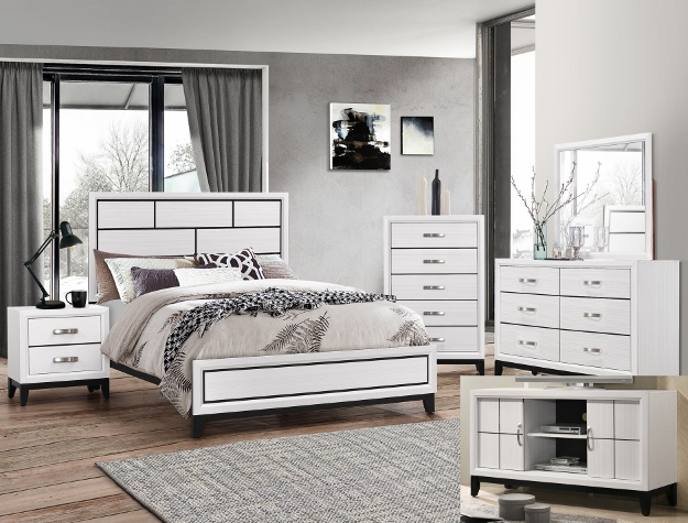 AKERSON CHALK BEDROOM SET