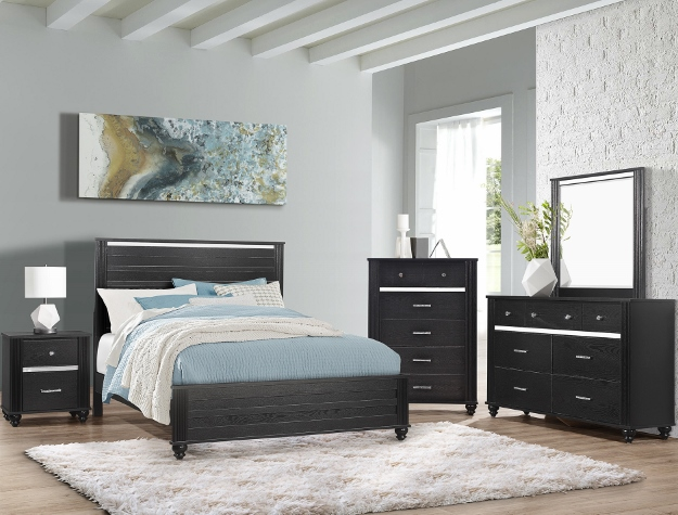 GASTON BLACK BEDROOM SET