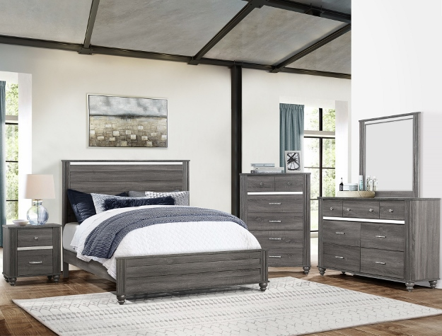 GASTON GREY BEDROOM SET