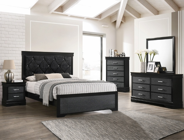 AMALIA BLACK BEDROOM