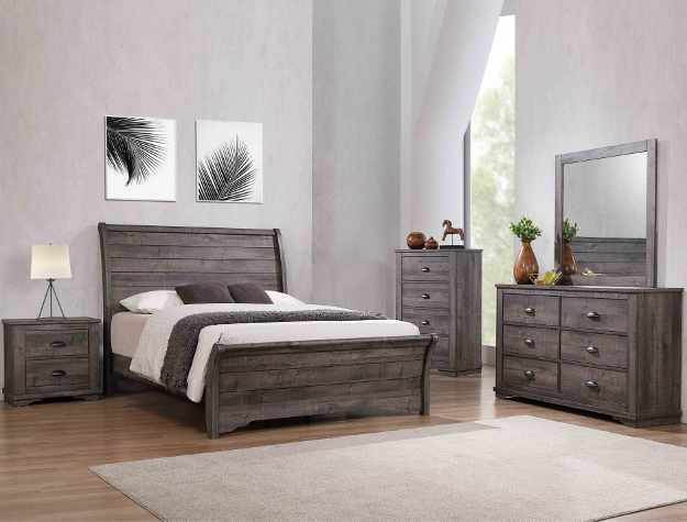 CORALEE GREY BEDROOM SET